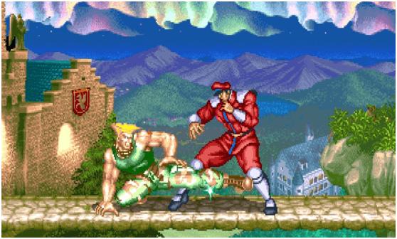 大型電玩遊戲《快打旋風 2》。