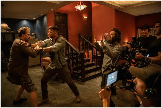 Netflix 電影《驚天營救》電影拍攝現場。