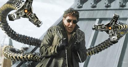 山姆雷米導演電影《蜘蛛人 2》中的反派八爪博士劇照。