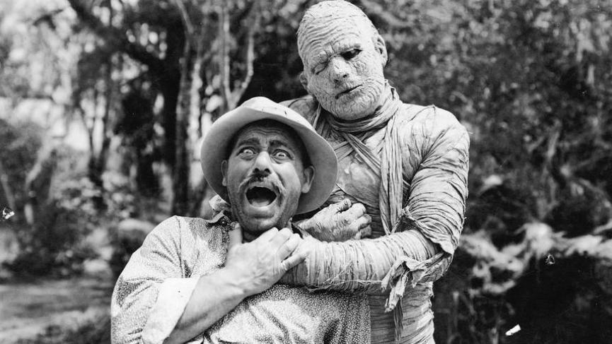 經典電影怪物 : 木乃伊,圖為電影《 木乃伊 》 劇照 。