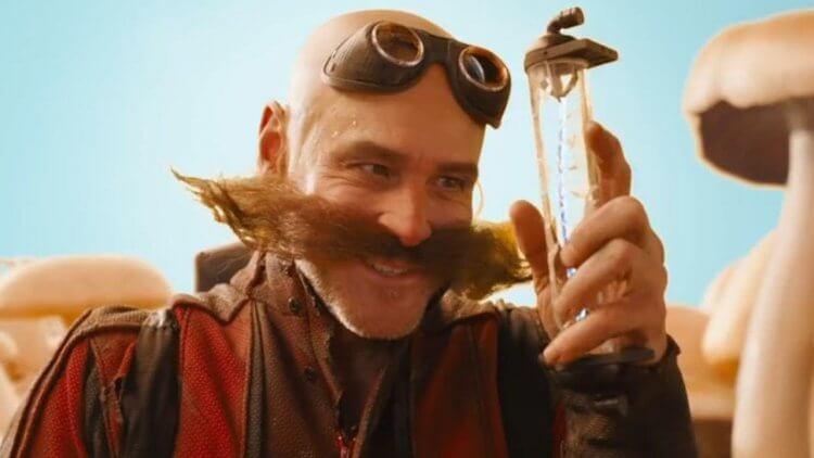 金凱瑞在《音速小子》真人版中飾演反派「蛋頭博士」。