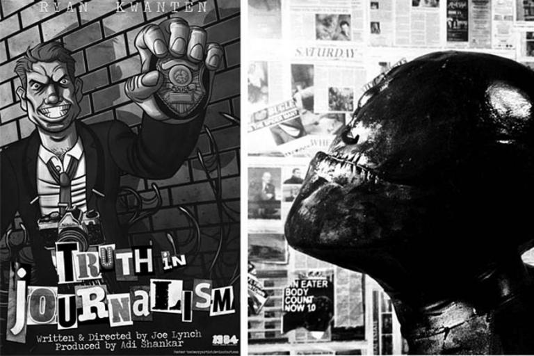2013 年的《猛毒:報導中的真相》是一部以猛毒為主角的黑白短片。