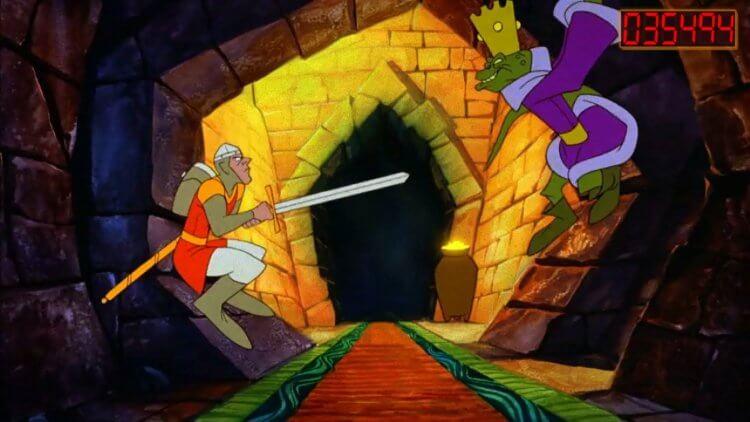 1983 年發行的經典電玩《龍穴歷險記》。