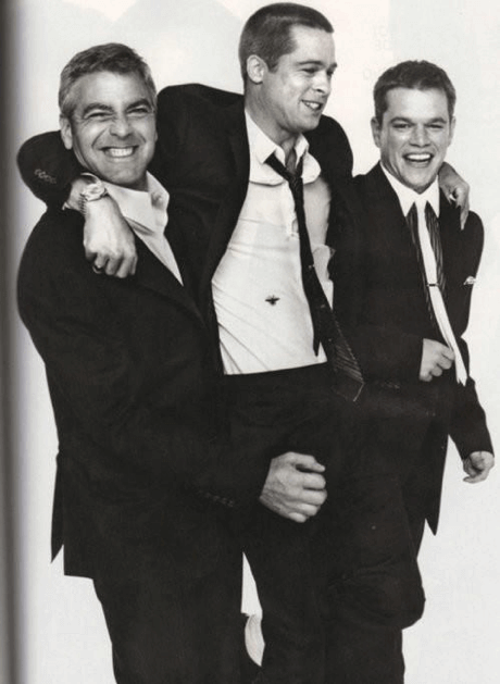 喬治克隆尼、布萊德彼特、麥特戴蒙合照,這些高顏值的好萊塢男神也有愛惡作劇的一面。