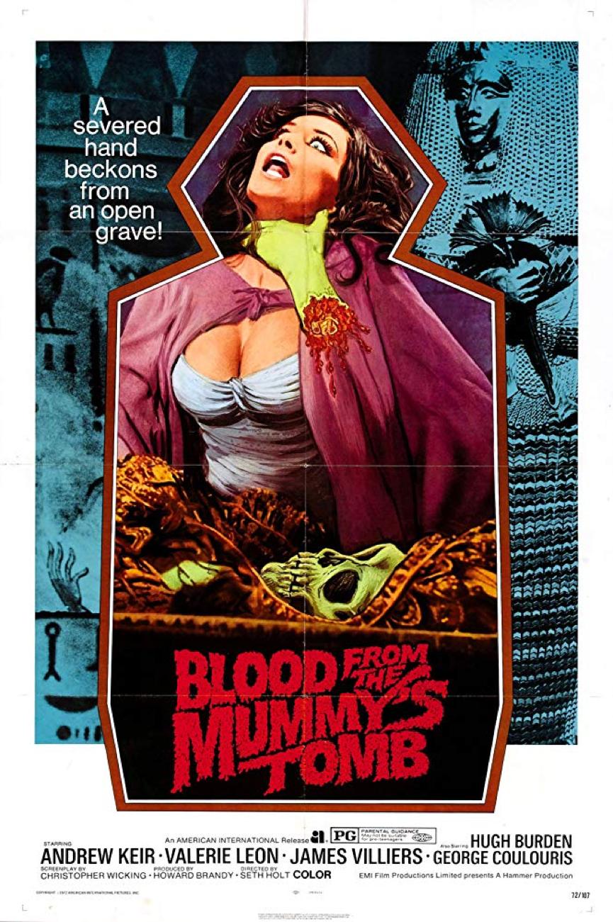《 木乃伊墳墓之血 》 電影海報 。