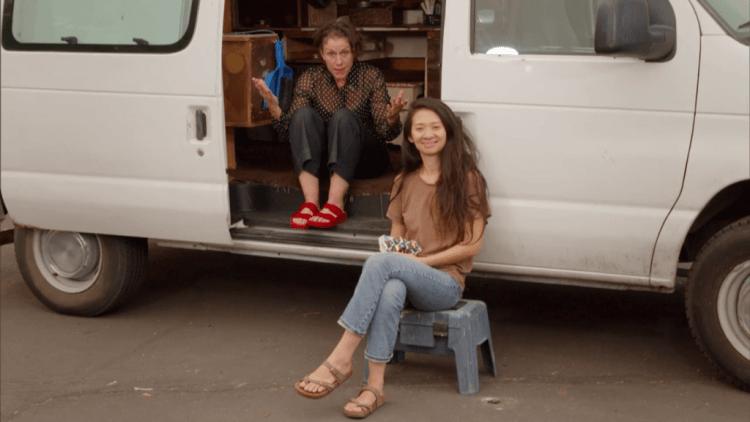 《游牧人生》導演趙婷和演員法蘭西絲麥朵曼。