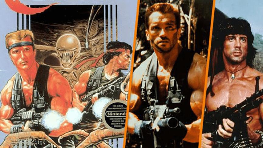 魂斗羅 (左)、 終極戰士 與 藍波 ,你的完美 80 年代。