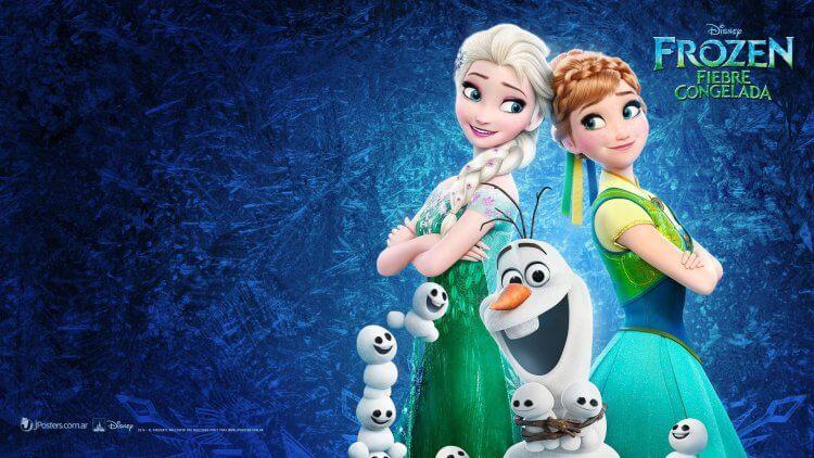 《冰雪奇緣:驚喜連連》:雪寶周圍有許多小雪人夥伴。