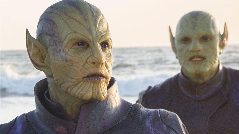 《驚奇隊長》片中能夠自由改變外型的外星種族:史克魯爾人。