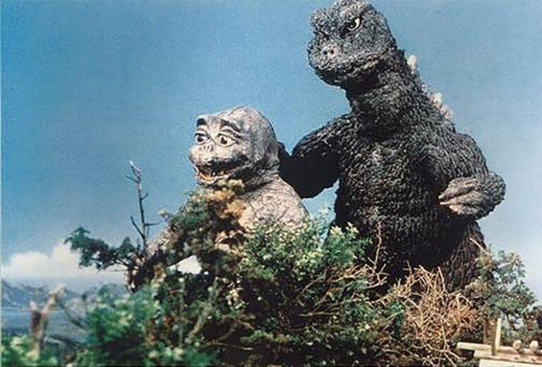 《怪獸島對決 哥吉拉之子》中的哥吉拉父子檔。