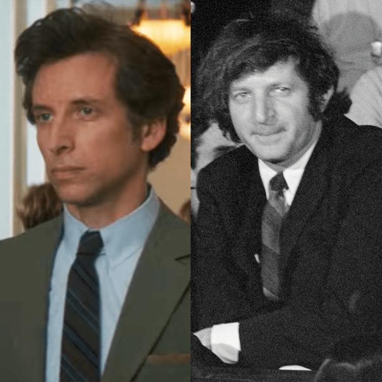 本申克曼 (Ben Shenkman) 於《芝加哥七人案:驚世審判》中飾演 Leonard Weinglass。