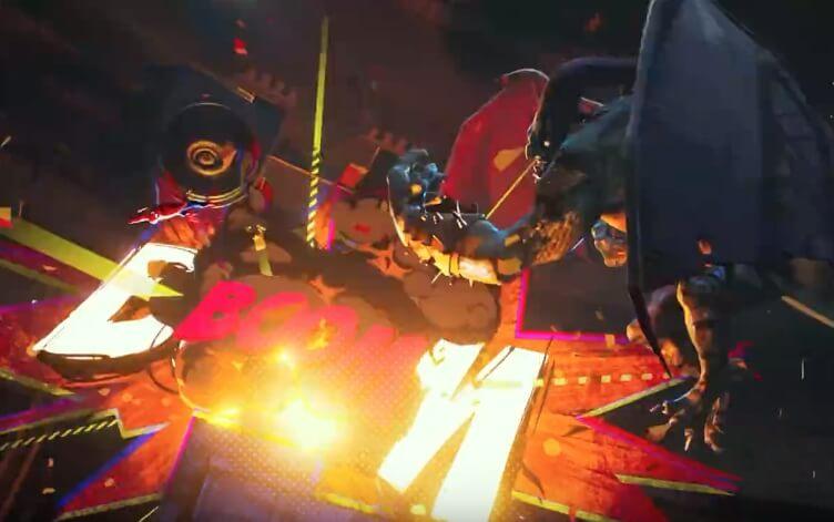《蜘蛛人:新宇宙》用了大量狀聲字效果呈現在畫面上。