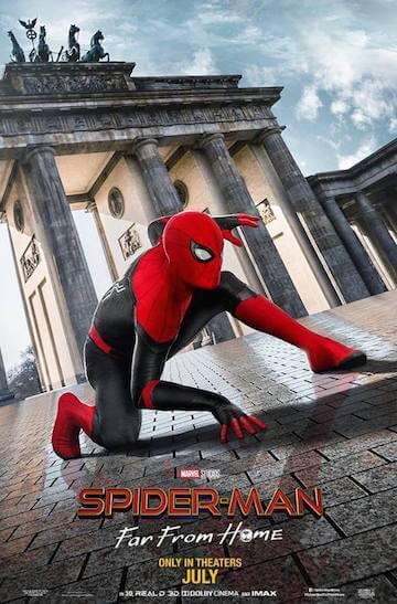 《蜘蛛人:離家日》海報。