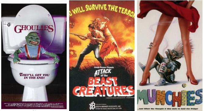 《馬桶妖怪》(Ghoulies, 1985)、《荒島小精靈》(Attack of the Beast Creatures, 1985)、《外星魔怪/分身小綠妖》(Munchies, 1987)