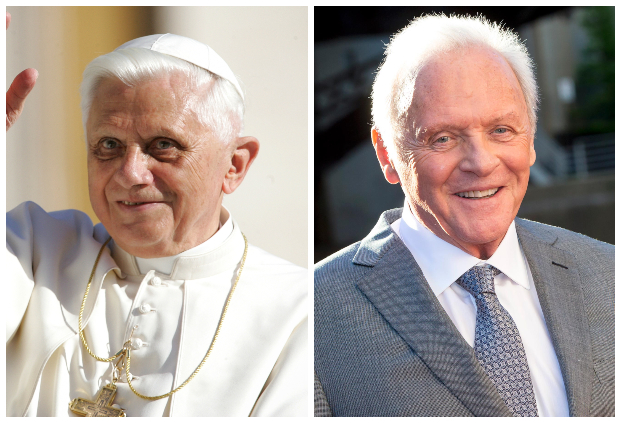 前任天主教教宗本篤十六世主動請辭的故事,將由安東尼霍普金斯詮釋,於 Netflix 電影《教宗的承繼》中登場。