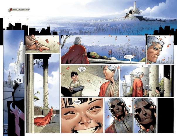 漫威漫畫中,緋紅女巫汪達竄改現實,打造人類與變種人和平共處的烏托邦。
