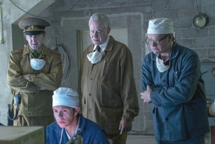 以 80 年代俄國車諾比核災事件為主所製作的 HBO 影集《核爆家園》劇照。