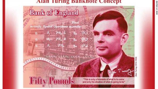 「現代電腦之父」的英國數學家艾倫圖靈將登上英國新鈔頭像