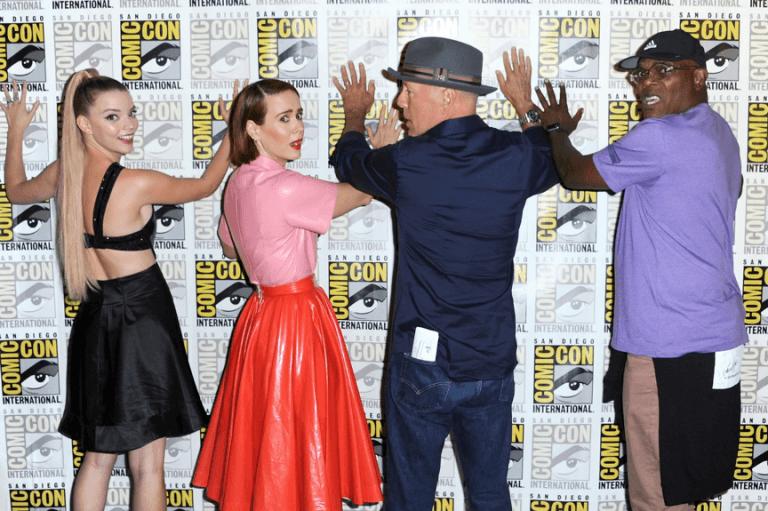 布魯斯威利、山繆傑克森等影星參加 2018 年聖地牙哥漫畫展時的合影。