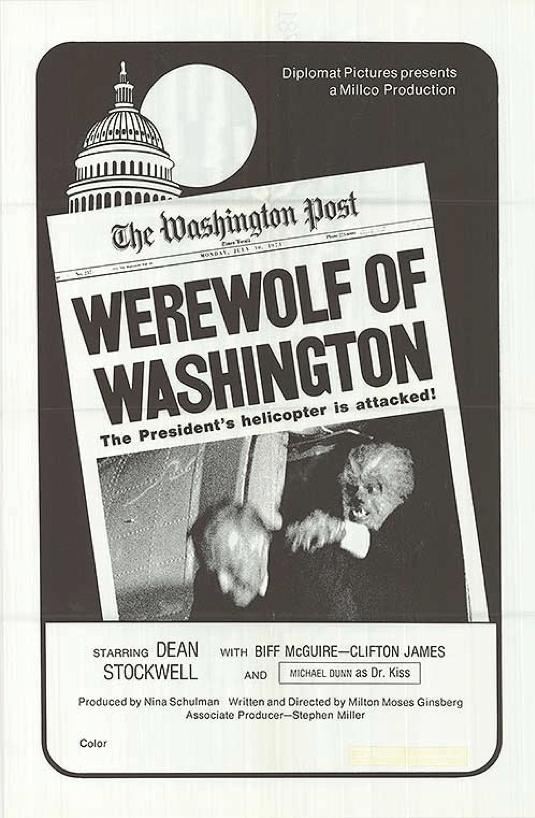 金斯堡的恐怖喜劇《華盛頓狼人》(Werewolf of Washington)。