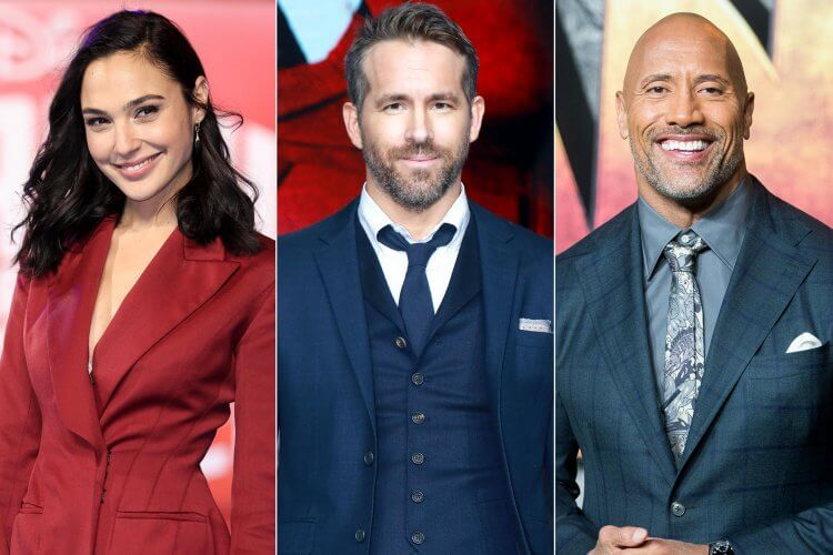 Netflix 動作電影《Red Notice》演員卡司:蓋兒加朵、萊恩雷諾斯、巨石強森。