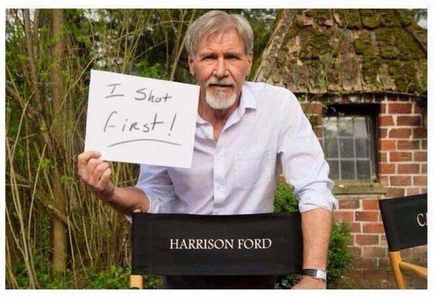 飾演當年 星戰 電影中 韓索羅 的知名演員 哈里遜福特