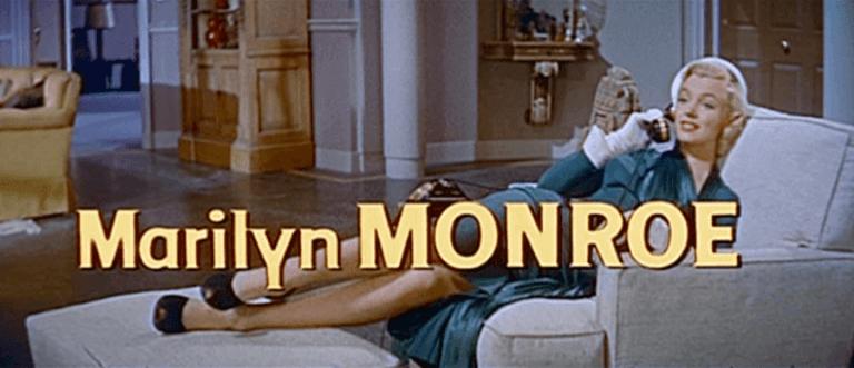 福斯影業在1953年時極具代表性的金髮女郎「瑪麗蓮夢露」