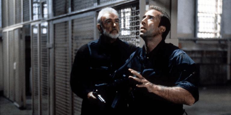 1996 年麥可貝執導, 史恩康納萊、尼可拉斯凱吉主演的動作片《絕地任務》。