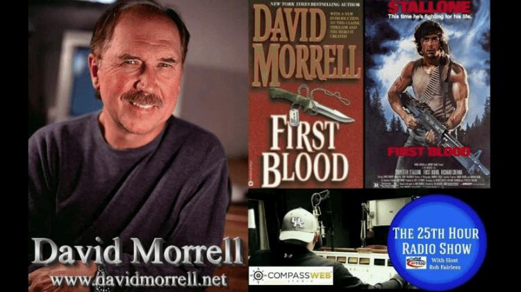 創作出「藍波」這位經典角色的小說家:大衛莫瑞爾。