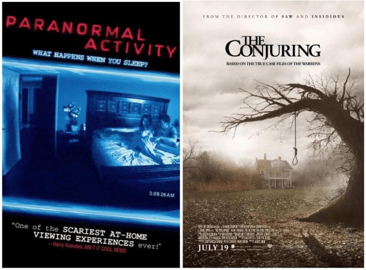 《靈動:鬼影實錄》(Paranormal Activity) 與《厲陰宅》(The Conjuring) 系列皆以靈異現象為題材,獲得不錯票房。