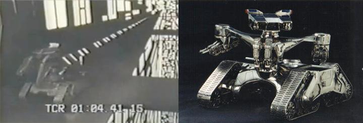 卡麥隆 《 異創世 》出現的坦克機器人與後來《 魔鬼終結者 》的獵殺者戰車十分相像。