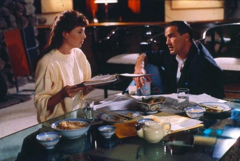 席格與妻子凱莉勒布魯克合演《殺不死的勇者》。