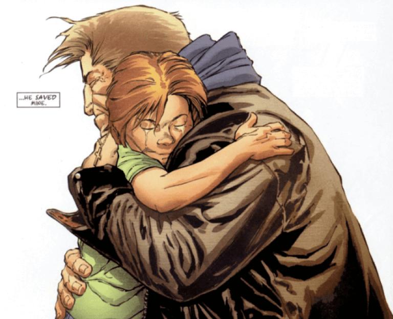 漫威漫畫《夜魔俠》中的麥特梅鐸與爸爸。
