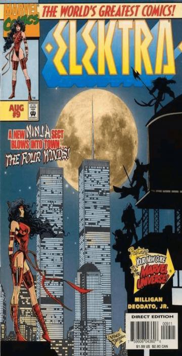 漫威「幻影殺手」《艾麗催》漫畫封面也曾出現過雙子星世貿大樓。