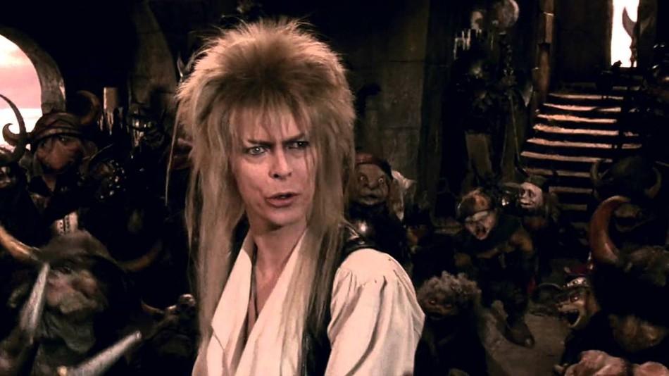 大衛鮑伊所主演的 80 年代的奇幻電影《魔王迷宮》劇照。
