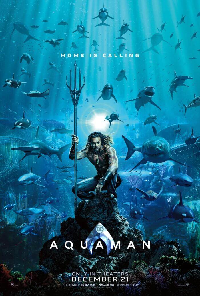 華裔名導溫子仁首次執導超級英雄主題電影《水行俠》海報。