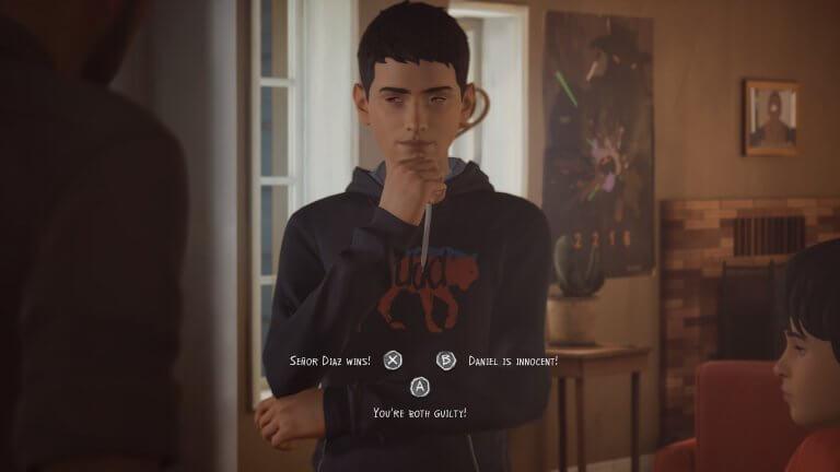像《黑鏡:潘達斯奈基》這樣經由觀眾與作品互動,推進故事的方式在電玩已是很常見的模式,圖為《奇妙人生 2》。