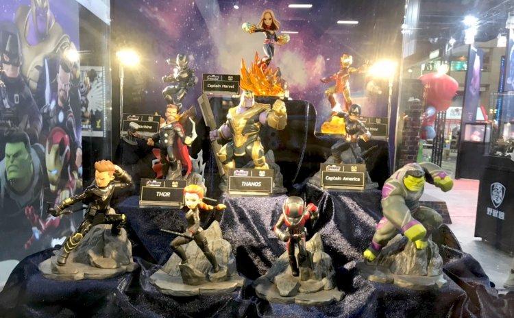 2019 世貿一館電影玩具中,野獸國攤位將帶來《復仇者聯盟》系列等電影相關周邊公仔。