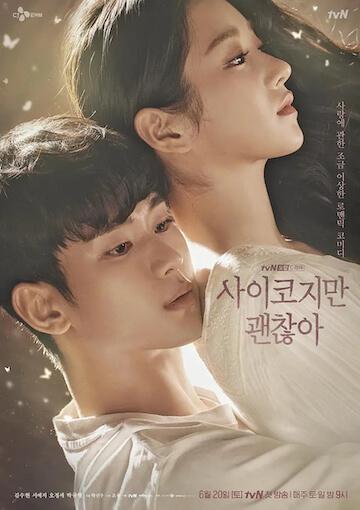 徐睿知演出 2020 年韓劇《雖然是精神病但沒關係》海報。