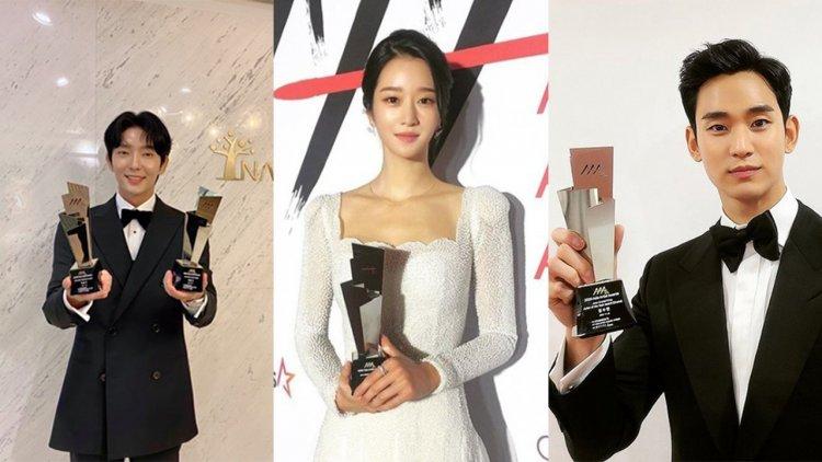 2020 AAA頒獎典禮星光熠熠,金秀賢、徐睿知合體亮相,宋智孝、朴珍榮獲粉絲認證最佳人氣演員首圖