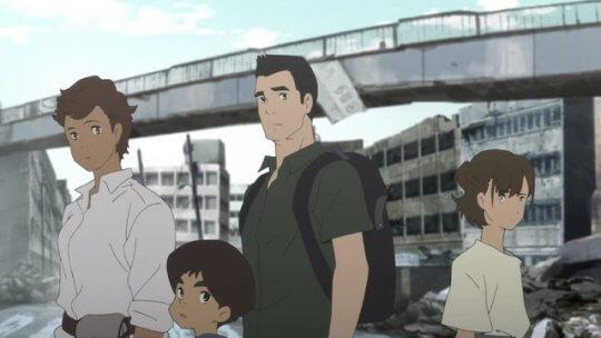 湯淺政明導演動畫影集《日本沉沒 2020》劇照。