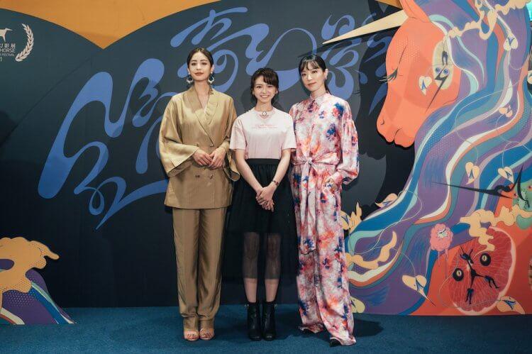 《2049:刺蝟法則》三位主演莫允雯、林子熙以及陳姸霏。