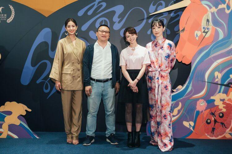 《2049:刺蝟法則》監製湯昇榮與主演莫允雯、林子熙以及陳姸霏。