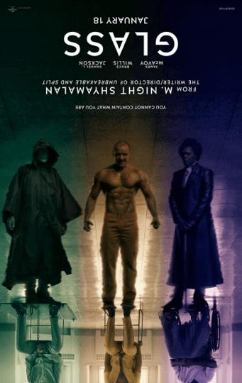 奈沙馬蘭 《 玻璃 》電影海報暗藏玄機。