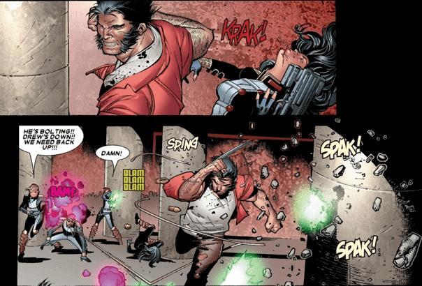 漫威漫畫《House of M》中,唯有金鋼狼知曉變種人與人類和平共存的世界是緋紅女巫能力所導致,他冒險挖掘真相。