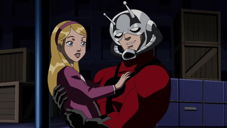 漫威系列作品《蟻人》中的凱西與史考特。