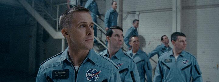 《 登月先鋒 》中的傳奇太空人 阿姆斯壯 ,由 雷恩葛斯林 飾演。