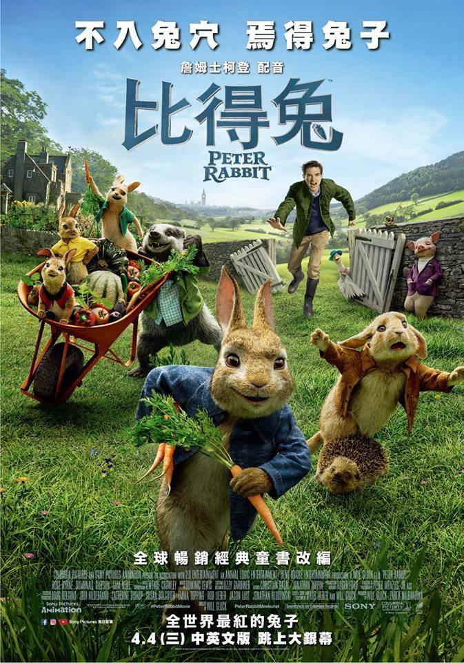 比得兔 電影海報
