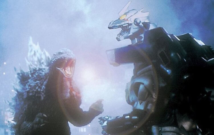2002 年新世紀哥吉拉系列東寶怪獸電影《哥吉拉×機械哥吉拉》當中,哥吉拉的吼聲與機械哥吉拉息息相關。