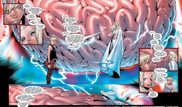 漫威漫畫《House of M》篇章中,白皇后進入蕾拉的腦分析她的變種人能力,並利用它喚起其他英雄「真正」的記憶。